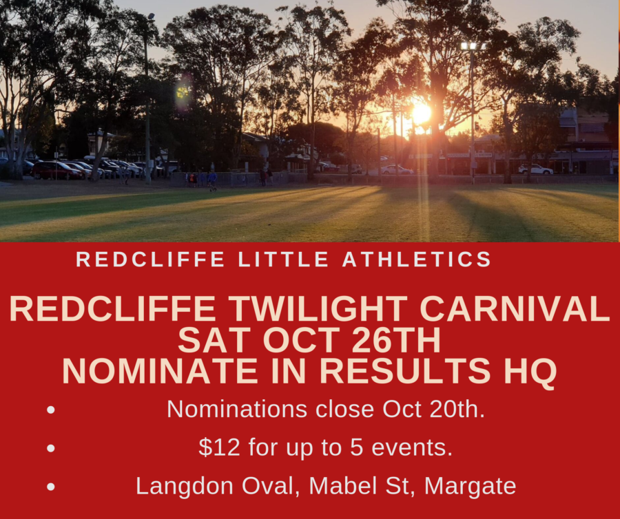 2019 Redcliffe Twilight Carnival Timetable